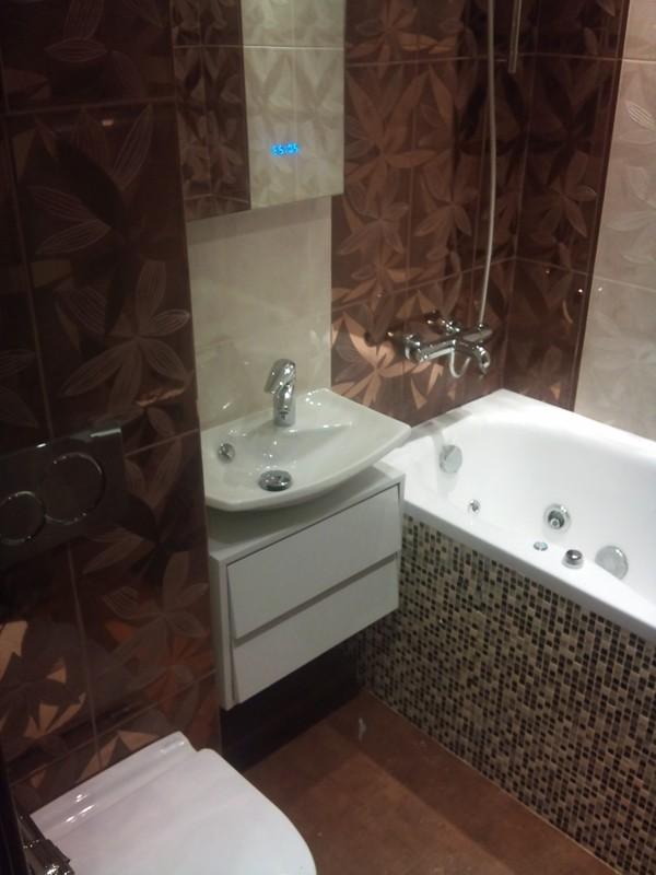 дизайн ванной комнаты коричневого цвета