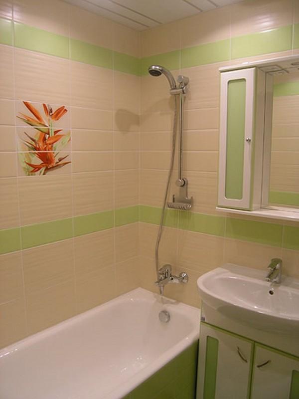 дизайн ванной комнаты зеленого цвета