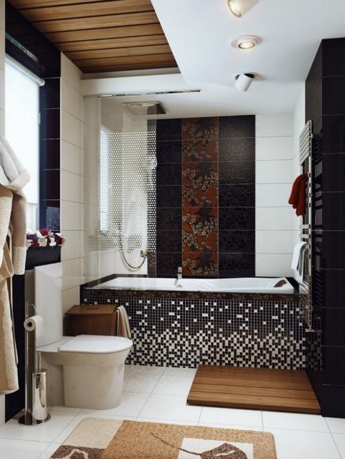 интерьер в ванной частного дома