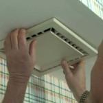 Установка вентилятора для ванной