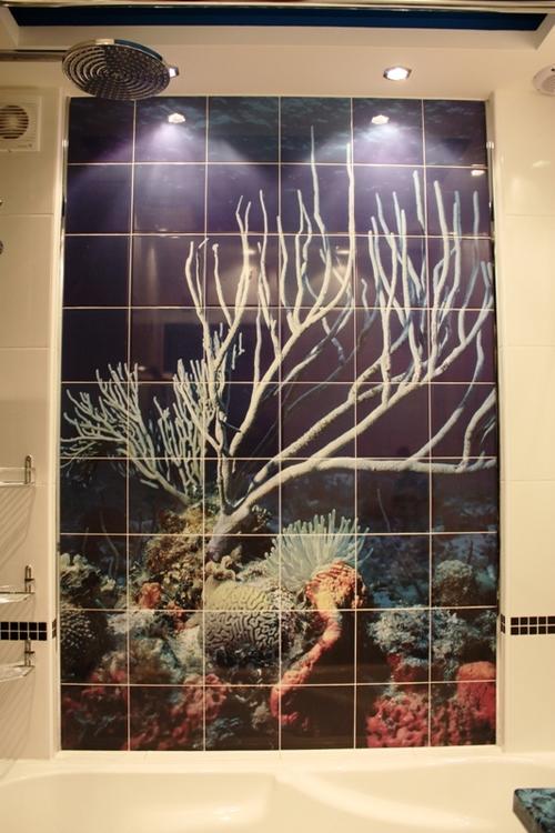 панно из фотоплитки в ванной