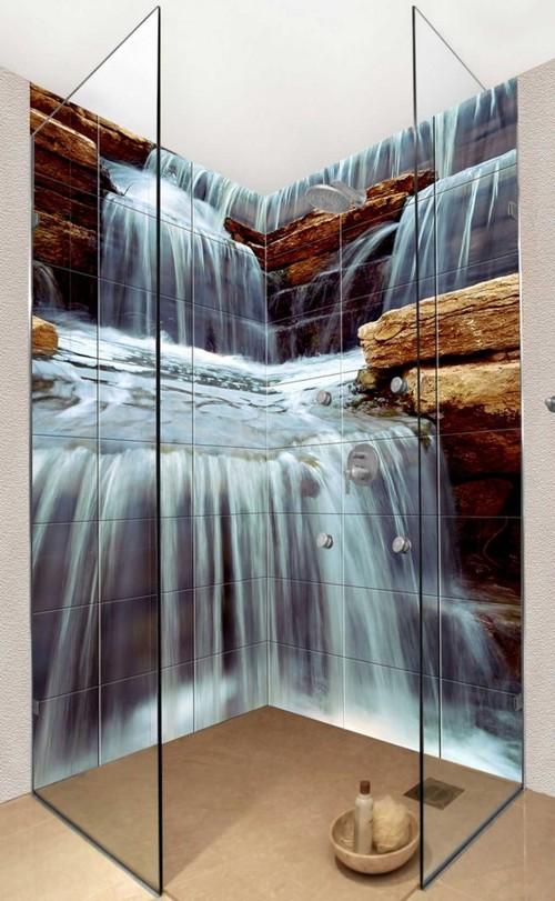 водопад в душевой кабине