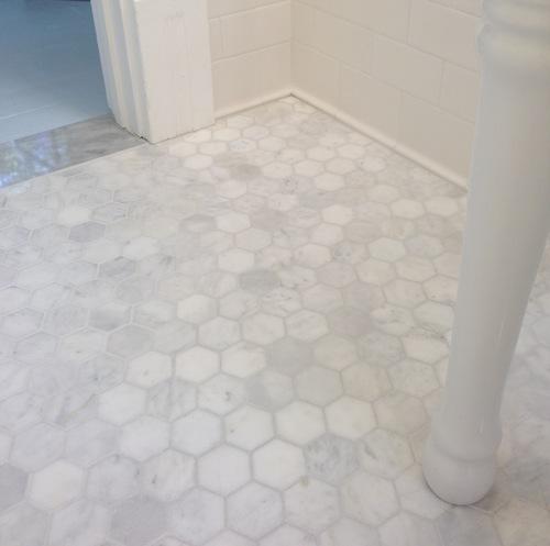 кафель на пол в ванной