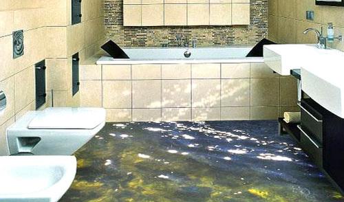 Наливные 3d полы ванной комнате гидроизоляция пола до стяжки или после