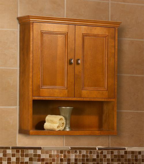 навесной деревянный шкаф