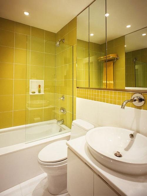 стандартное освещение в современной ванной