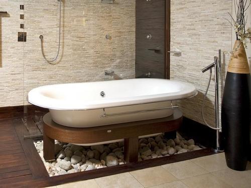 пол в ванной деревянного дома