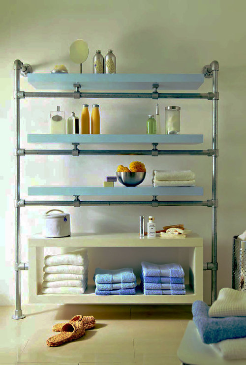 Towel shelves bathroom