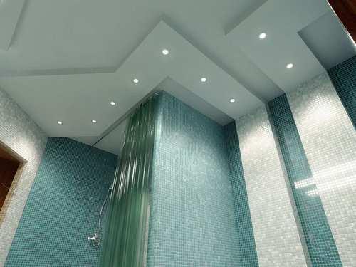 абстрактный потолок из гипсокартона