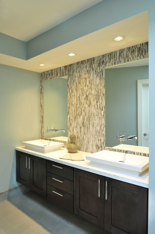 потолок из гипсокартона в ванную