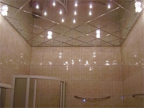 зеркальная плитка по диагонали