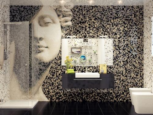 мозайка на стене