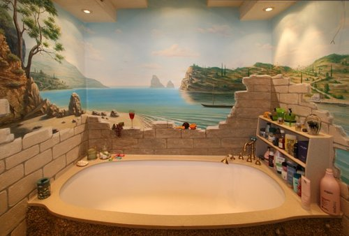 оригинальная облицовка ванной