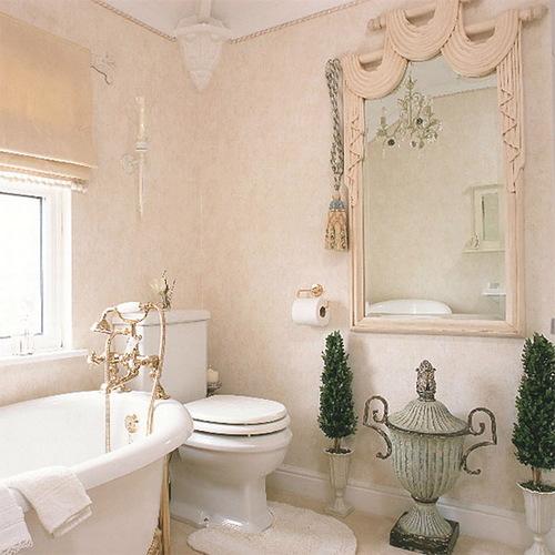 жидкие обои в ванной комнате фото