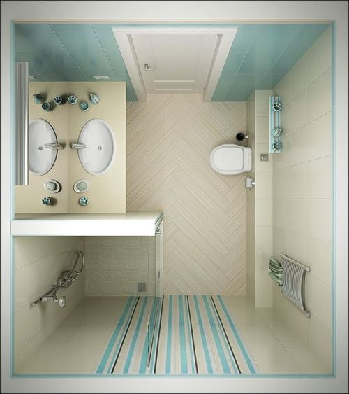 6 for Bathroom design 2m x 2m