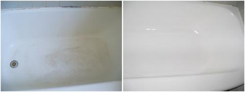 до и после покраск эмалью