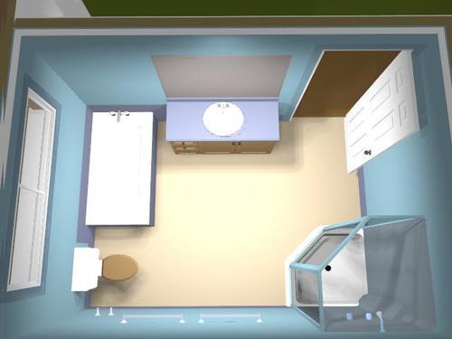 3d модель ванной комнаты