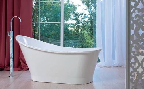 Цвет и стиль ванны из литьевого мрамора