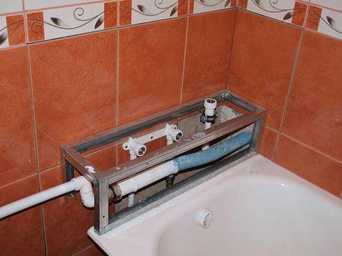 Как сделать бортик на полу в ванной
