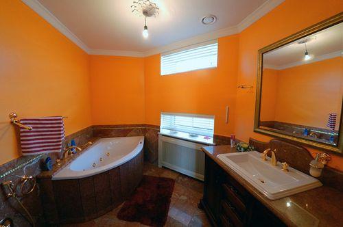 фото комната персикового цвета