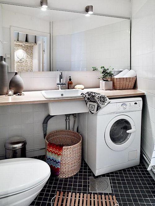 Раковина и стиральная машина