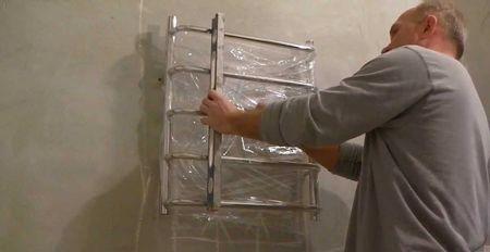 Установка полотенцесушителя пошагово со всеми фитингами