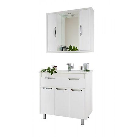 Комод с зеркалом и шкафчиками