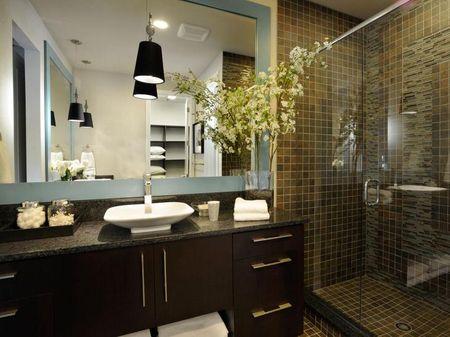 Мебель для ванной цвета венге