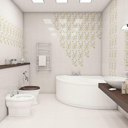 Светлое оформление ванной