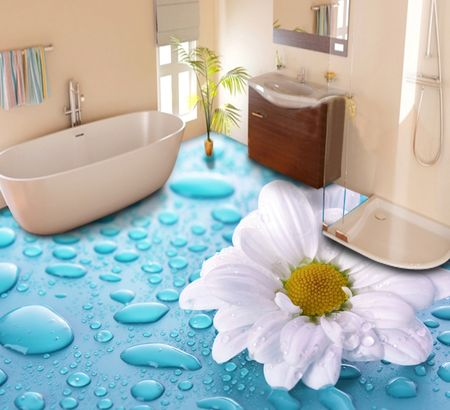 Виниловая плитка для ванной