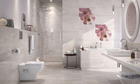 Лаконичный интерьер ванной